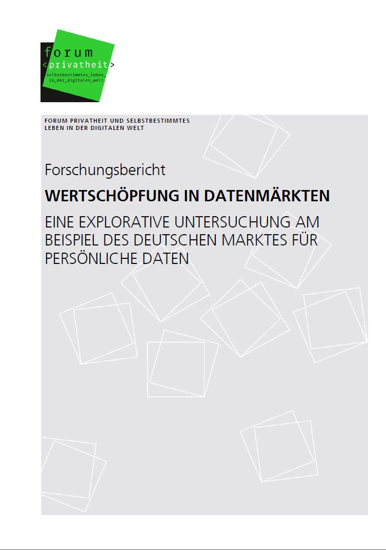 Forschungsbericht Wertschöpfung in Datenmärkten